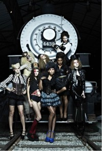 America's Next Top Model - steampunk fashion shoot