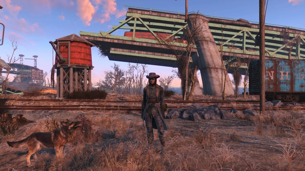 Jessica McAlpin (and Dogmeat) in the wastelands